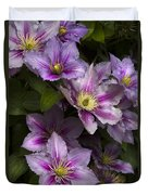 Pink Clematis Duvet Cover