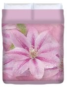 Pink Clematis Profusion Duvet Cover