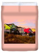 Pink Clouds At Isle Of Palms Duvet Cover