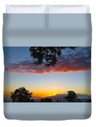 Pink Clouds Duvet Cover