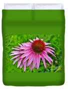 Pink Cone Flower Duvet Cover