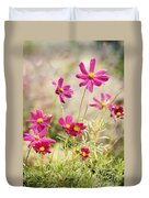 Pink Cosmos Duvet Cover