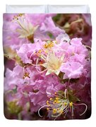 Pink Crepe Myrtle Closeup Duvet Cover by Carol Groenen