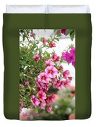 Pink Curtain Duvet Cover