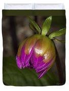 Pink Dahlia Bud Duvet Cover