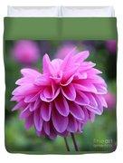 Pink Dahlia Closeup Duvet Cover