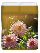 Pink Dahlia Garden Duvet Cover