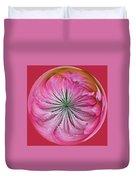 Pink Dahlia Orb Duvet Cover