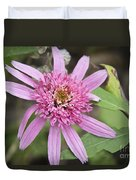Pink Double Delight Echinacea Duvet Cover