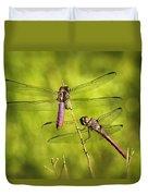 Pink Dragonflies Duvet Cover