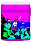 Pink Easter Island Duvet Cover