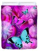 Pink Fantasy Flower Duvet Cover