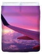 Pink Flight Duvet Cover