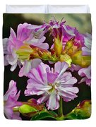 Pink Flower On Brier Island In Digby Neck-ns Duvet Cover