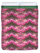 Pink Flower Petal Based Crystal Beads In Sync Wave Pattern Duvet Cover