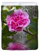 Pink Flower Reflection Duvet Cover