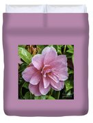Pink Flower With Rain Drops Duvet Cover