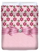 Pink Flowered Hearts  Duvet Cover