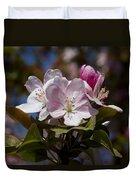 Pink Flowering Crabapple - Malus Duvet Cover