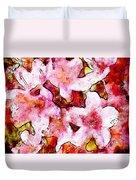 Pink Flowers 2 Duvet Cover
