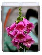 Pink Foxglove Duvet Cover by Karon Melillo DeVega