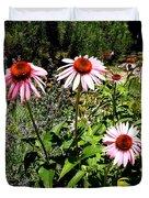 Pink Garden Duvet Cover