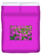 Pink Garden Flowers Duvet Cover