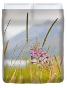 Pink Gem - Fire Weed Wildflower In Grand Teton National Park - Wyoming Duvet Cover