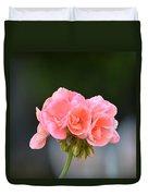 Pink Geranium Duvet Cover