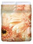 Pink Gerber Daisies 3 Duvet Cover