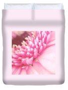 Pink Gerber Daisy Duvet Cover