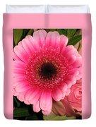 Pink Gerbera Duvet Cover