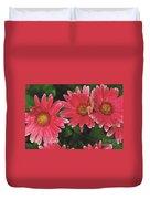 Pink Gerbera Daisy Duvet Cover
