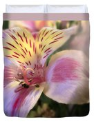 Pink Glow Lily  Duvet Cover