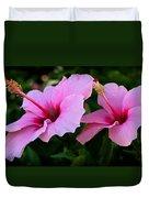 Pink Hibiscus II Duvet Cover