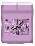Pink Horse Duvet Cover