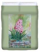 Pink Hyacint Duvet Cover