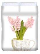 Pink Hyacinths Duvet Cover