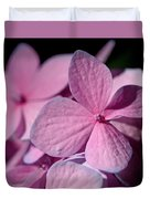 Pink Hydrangea Duvet Cover by Rona Black