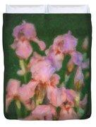 Pink Iris Family Duvet Cover
