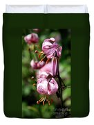Pink Lilies Duvet Cover