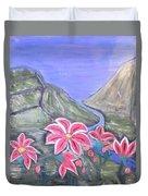 Pink Lillies Duvet Cover