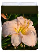 Pink Lily At Sunset 1 Duvet Cover