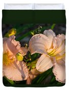 Pink Lily At Sunset 2 Duvet Cover