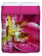Pink Lily Painterly Duvet Cover