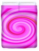 Pink Lollipop Swirl Duvet Cover