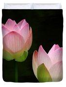 Pink Lotus Duet Duvet Cover