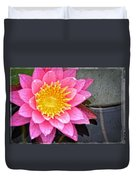 Pink Lotus Flower - Zen Art By Sharon Cummings Duvet Cover