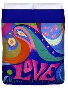 Pink Love Graffiti Nyc 2014 Duvet Cover
