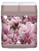 Pink Magnolia Blossoms Washington Dc Duvet Cover